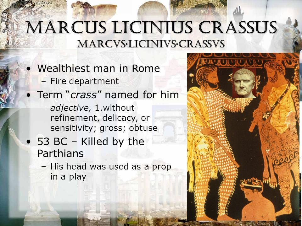 Pompey the Great CNAEVS·POMPEIVS·MAGNVS 48 BC – Caesar defeated him at the Battle of Pharsalus; Pompey fled to Egypt and was assassinated –King Ptolemy presented Pompey's head as a gift when Julius Caesar arrived in Egypt