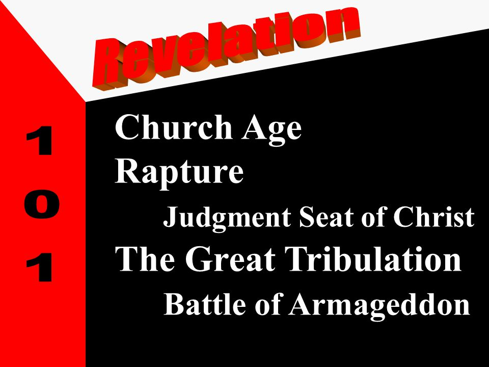 Church Age Rapture Judgment Seat of Christ The Great Tribulation Battle of Armageddon