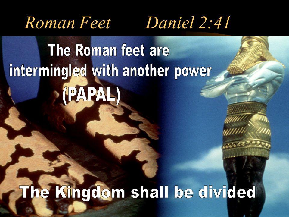 Roman Feet Daniel 2:41