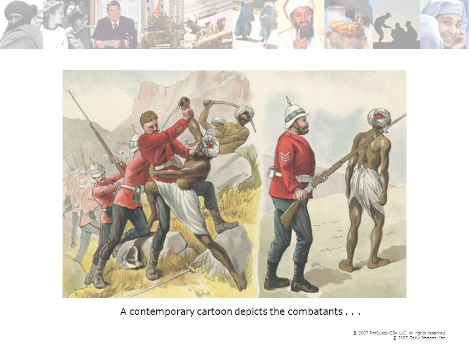 © 2007 ProQuest-CSA LLC. All rights reserved. © 2007 Getty Images, Inc. A contemporary cartoon depicts the combatants...