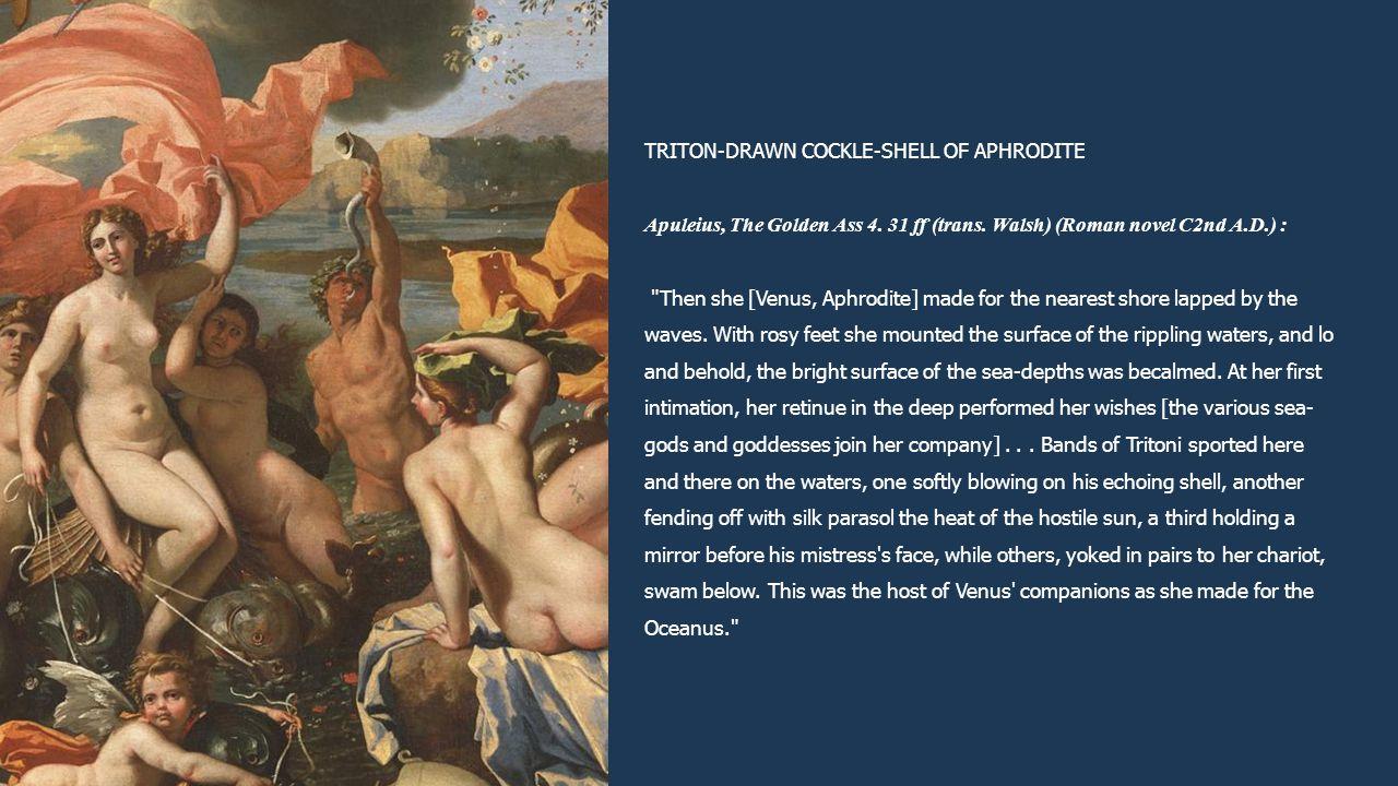 TRITON-DRAWN COCKLE-SHELL OF APHRODITE Apuleius, The Golden Ass 4. 31 ff (trans. Walsh) (Roman novel C2nd A.D.) :