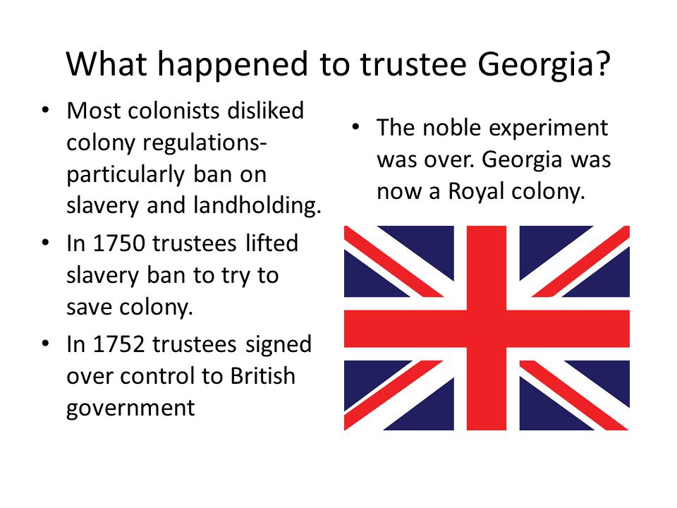 What happened to trustee Georgia.
