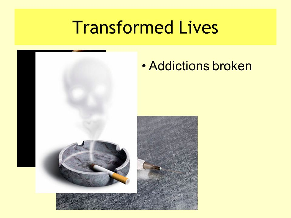 Transformed Lives Addictions broken