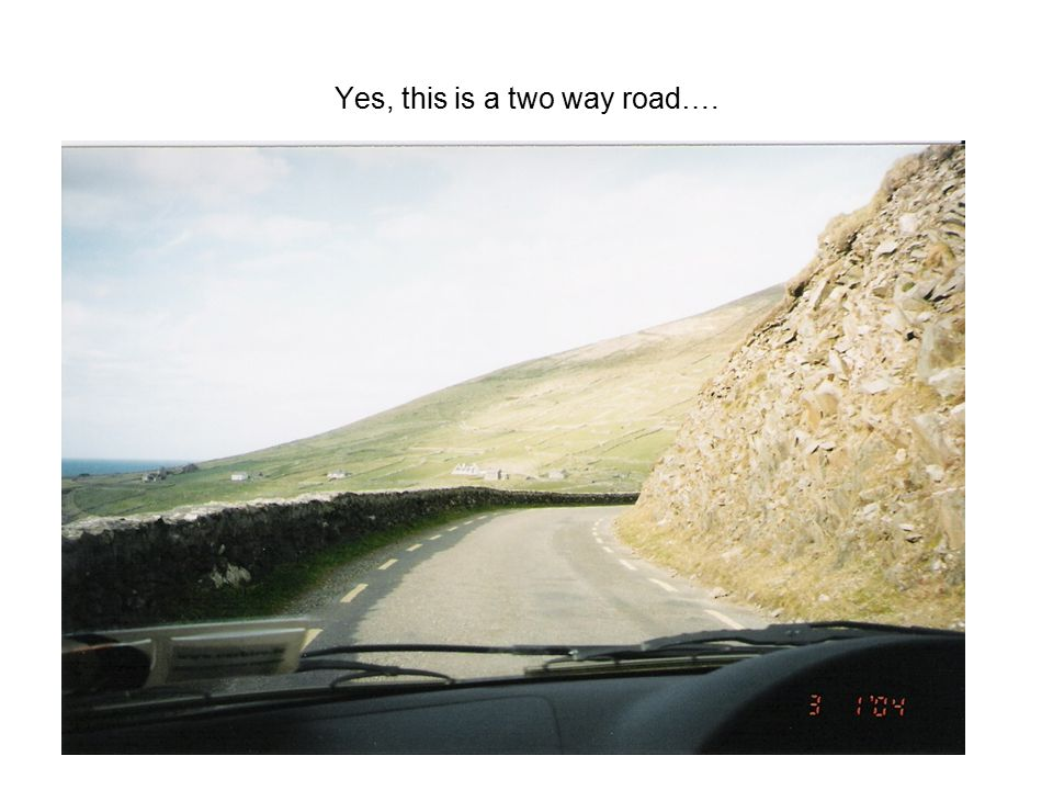 Yes, this is a two way road….