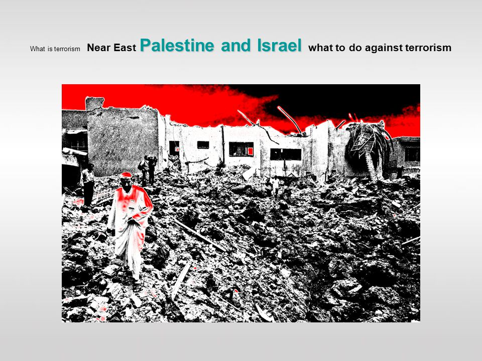 Palestine and Israel What is terrorism Near East Palestine and Israel what to do against terrorism