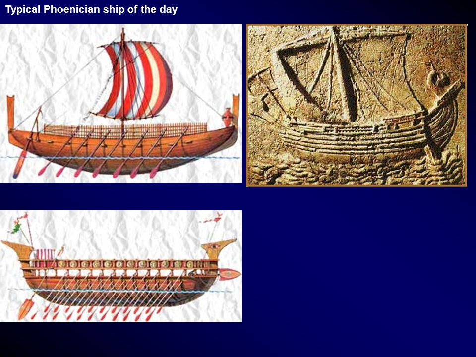 Typical Phoenician ship of the day