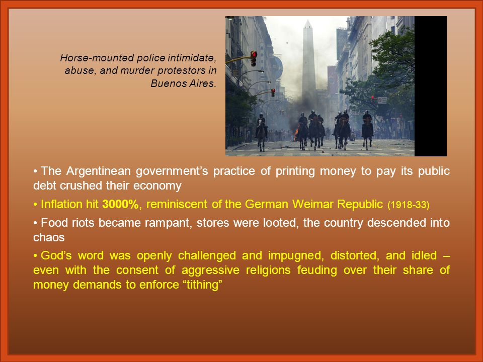 From 1830 - 1916, Argentina was one of the wealthiest and most prosperous free market capitalistic countries in the world.
