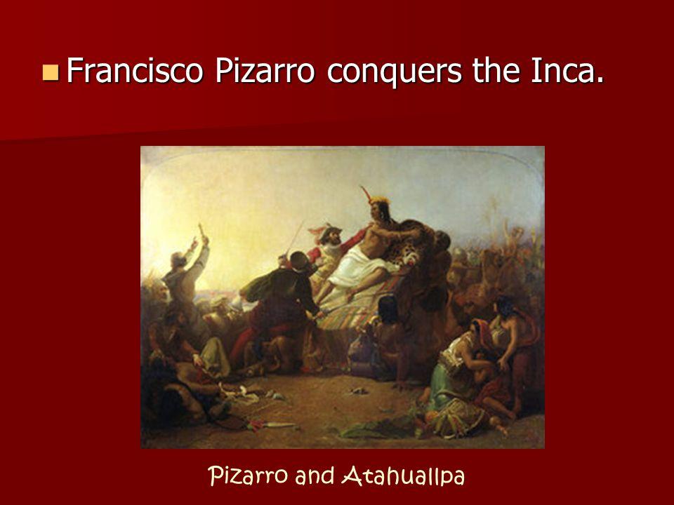 Cortés with Montezuma II Hernán Cortés conquered the Aztecs. Hernán Cortés conquered the Aztecs.