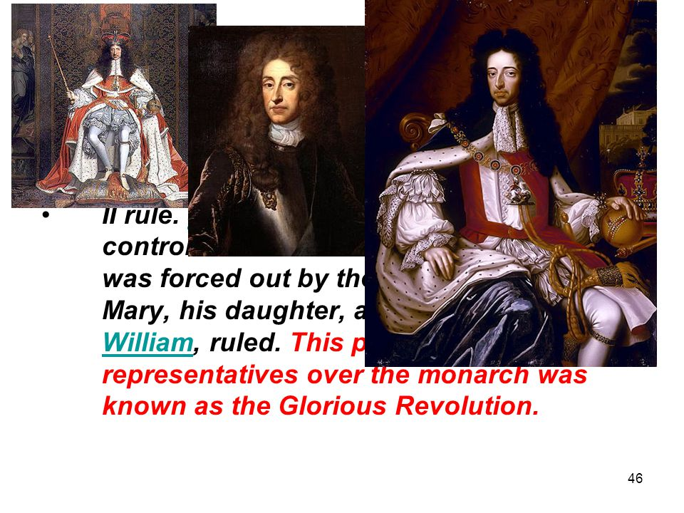 46 Chapter 4, Section 2 I.English Colonial Rule (Pages 108-109) In the mid-1600s, the English monarchy saw Charles II image and then JamesCharles II I