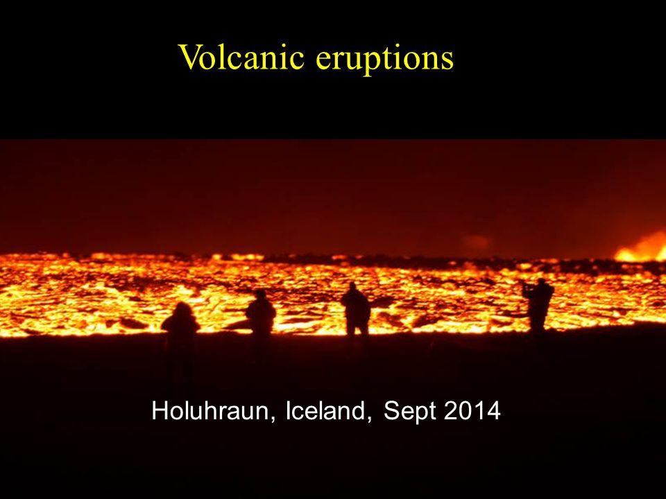 Holuhraun, Iceland, Sept 2014 Volcanic eruptions