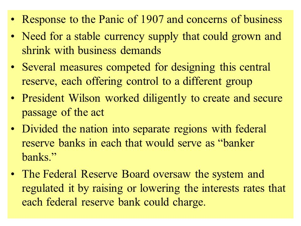 Federal Reserve Act if 1913