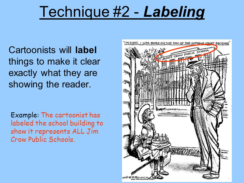 Technique #1 - Symbolism Cartoonists use objects, or symbols, to stand for larger concepts or ideas.