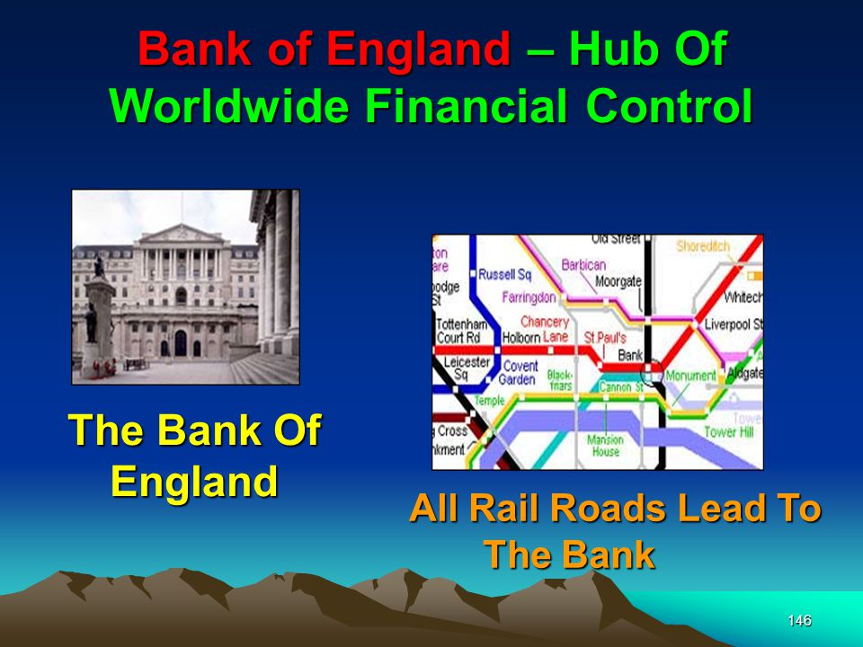 146 Bank of England – Hub Of Worldwide Financial Control The Bank Of England All Rail Roads Lead To The Bank