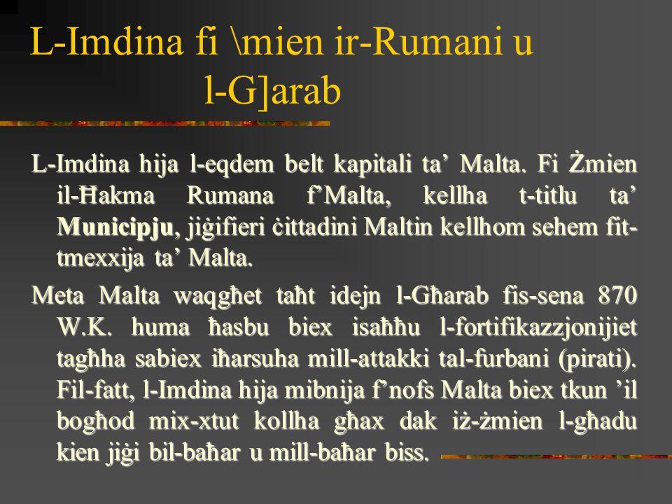 Bieb il-Griegi hu bieb li jagħti daħla għall-Imdina min- naħa tad-Domus Romana.