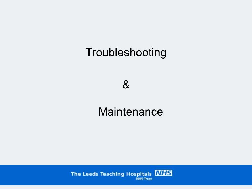 Troubleshooting & Maintenance