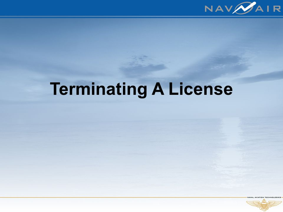 Terminating A License