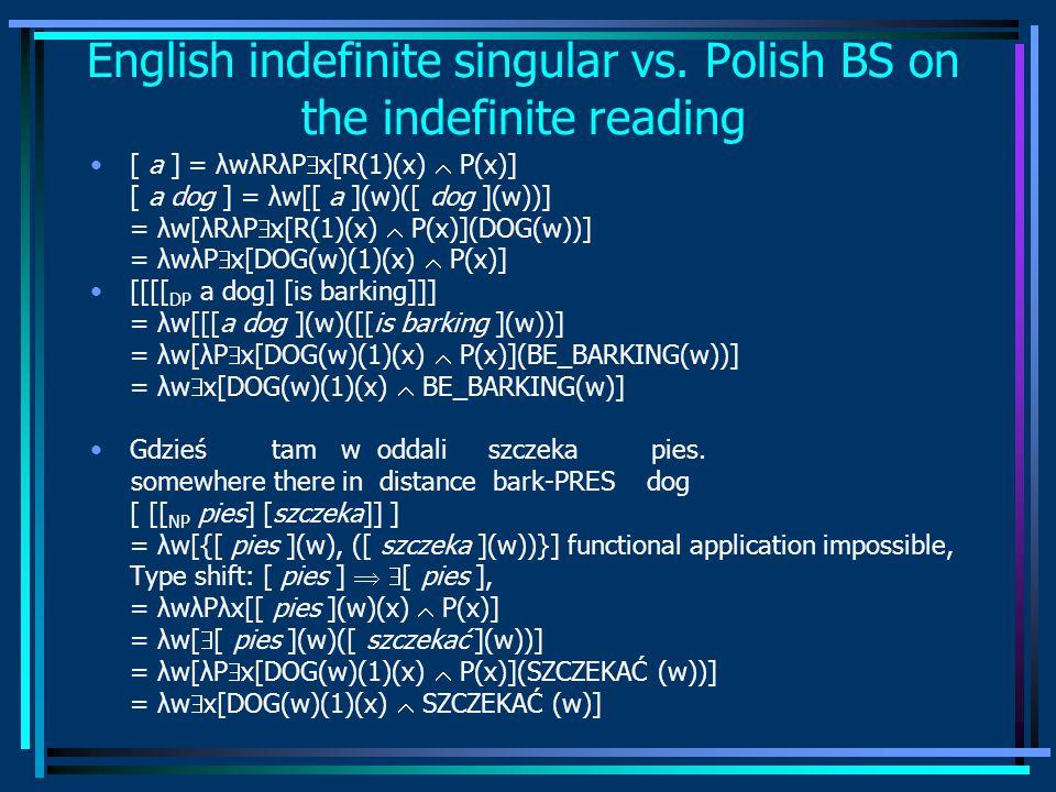 English indefinite singular vs.