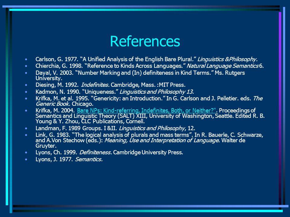 References Carlson, G. 1977.