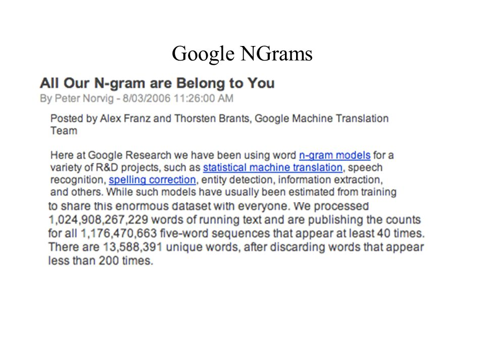 Google NGrams