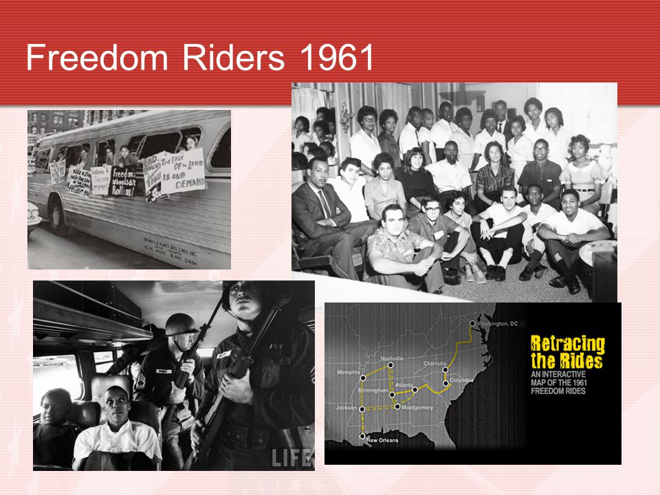 Riding for Freedom- freedom riders 1961 The Congress of Racial Equality (CORE) was one of the nation's older civil rights groups.