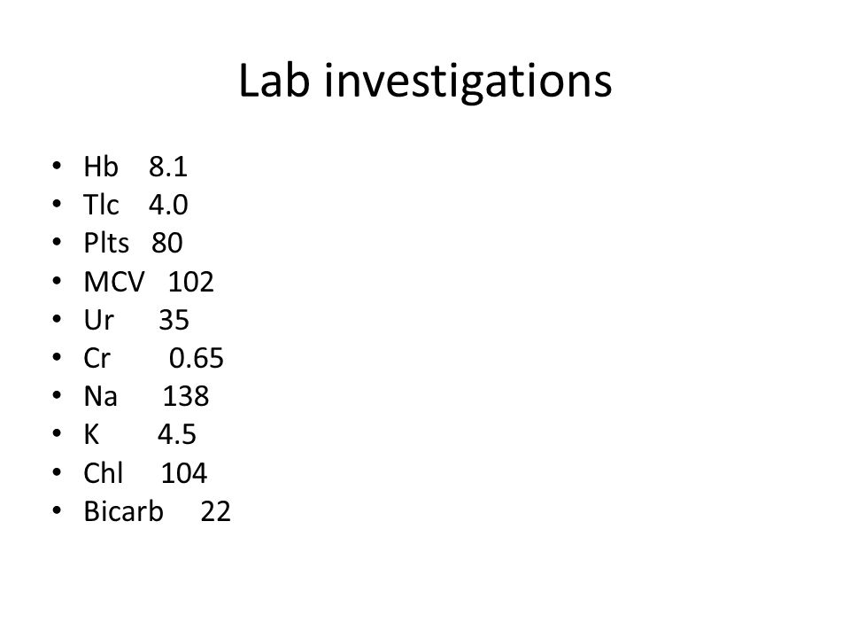 PT 28 APTT 42 INR 4 Albumin 2.3 ECG Normal CHEST X.RAY Unremarkable