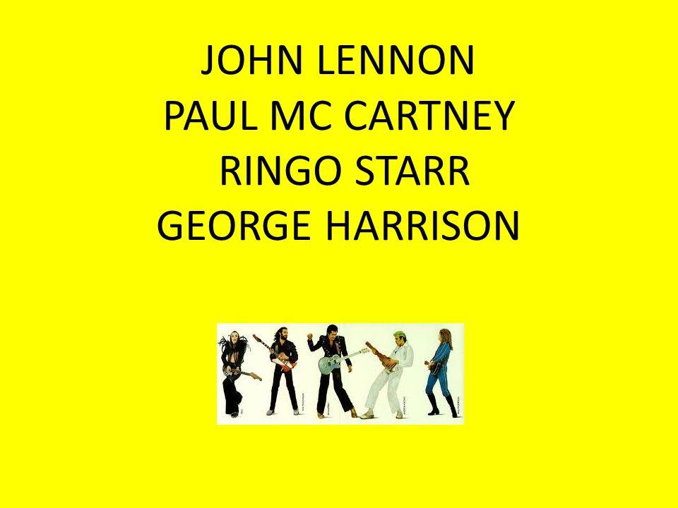 JOHN LENNON PAUL МC CARTNEY RINGO STARR GEORGE HARRISON