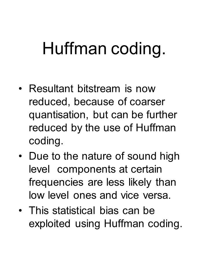 Huffman coding.