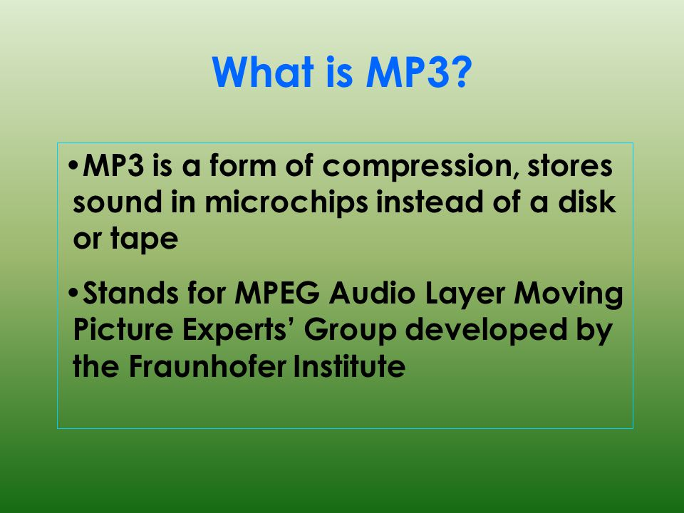 What is MP3.