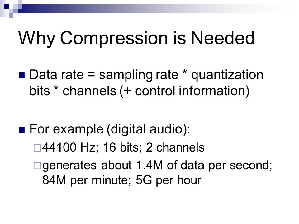 AAC's Improvements over MP3 More sample frequencies (8-96 kHz) Arbitrary bit rates and variable frame length Higher efficiency and simpler filterbank  Uses pure MDCT (modified discrete cosine transform)  Used in Windows Media Audio CS 414 - Spring 2012