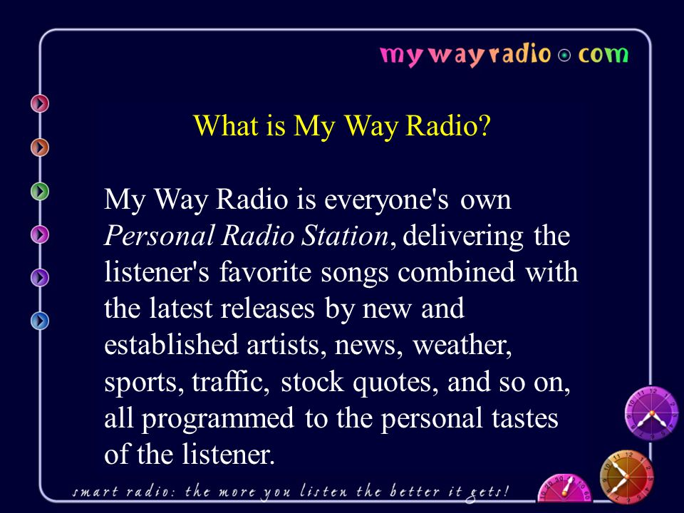 What is My Way Radio.