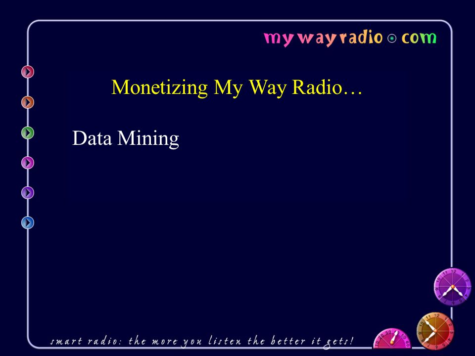 Monetizing My Way Radio… Data Mining