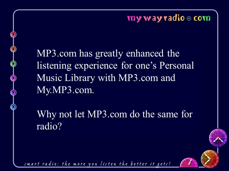 Why not let MP3.com do the same for radio
