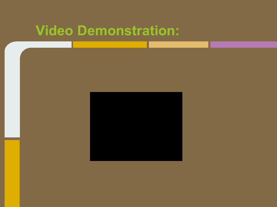 Video Demonstration: