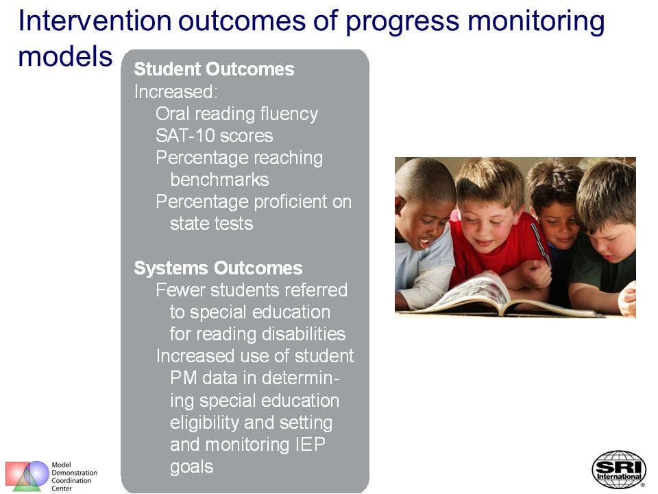 Intervention outcomes of progress monitoring models