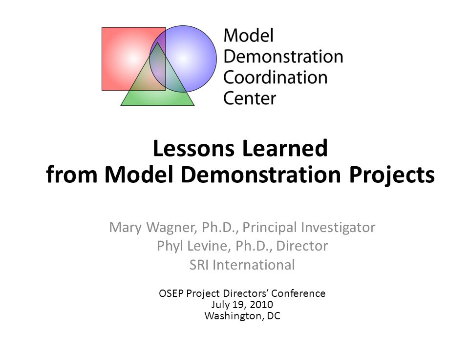 Lessons Learned from Model Demos: Creating Change to Promote Children's Success Cohort 3 Early Childhood Language Interventions OSEP Project Director's Conference Washington DC July 19-21, 2010 43