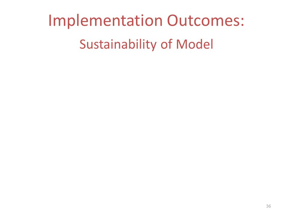 Implementation Outcomes: Sustainability of Model 36