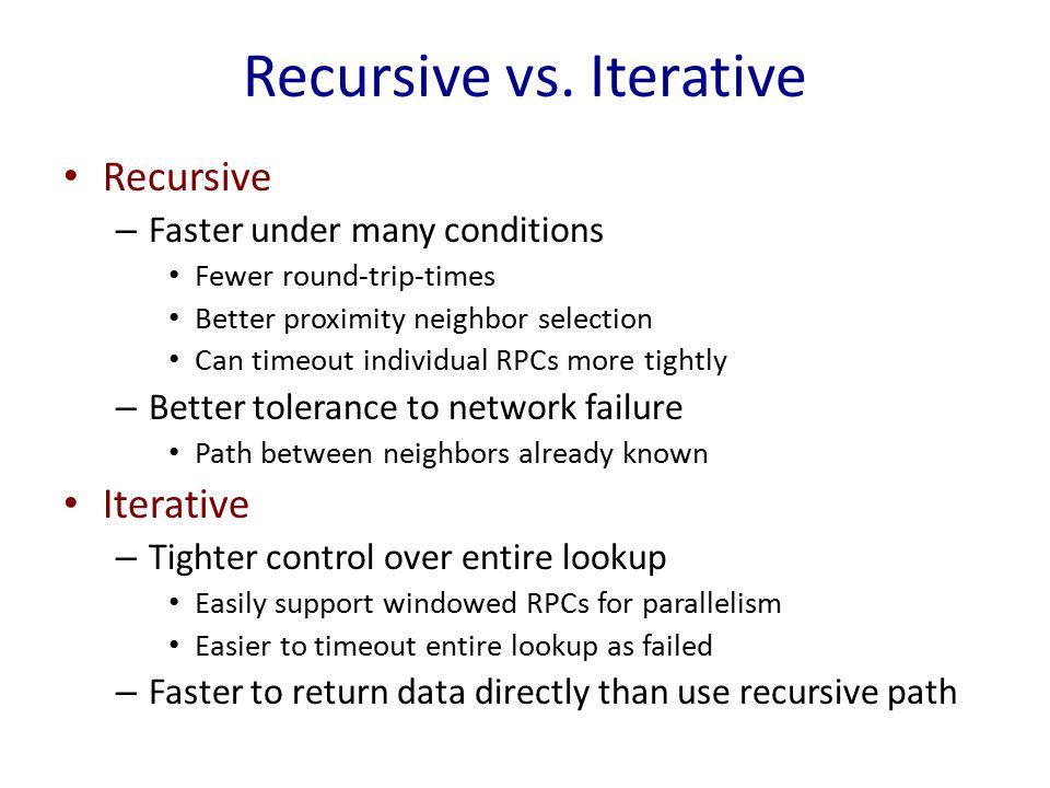 Recursive vs.