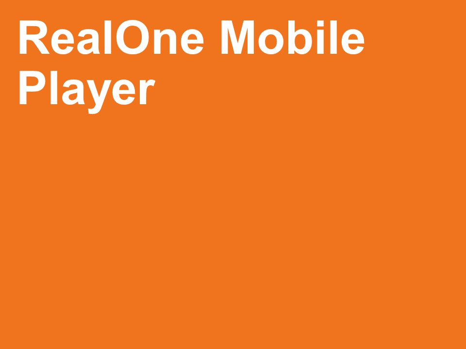 RealOne Mobile Player