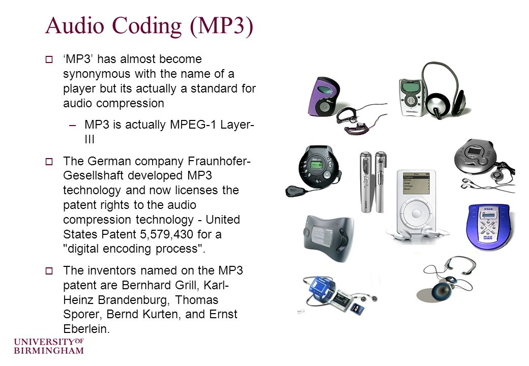 Compressing Speech  There is a good (but rather advanced) summary of speech compression using hybrid coders at http://www.data- compression.com/speech.htmlhttp://www.data- compression.com/speech.html  Also includes a demo.
