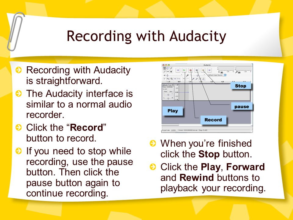 Editing your recording After you finish recording you can edit your recording.