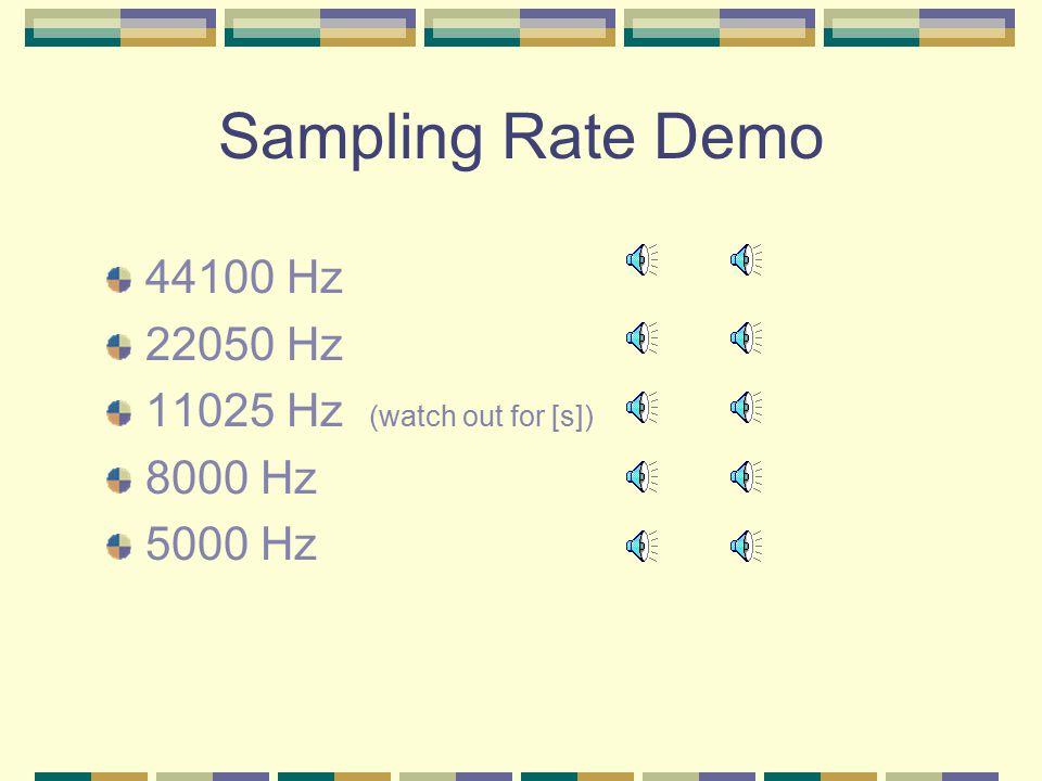 What Sampling Rate Should I Choose.