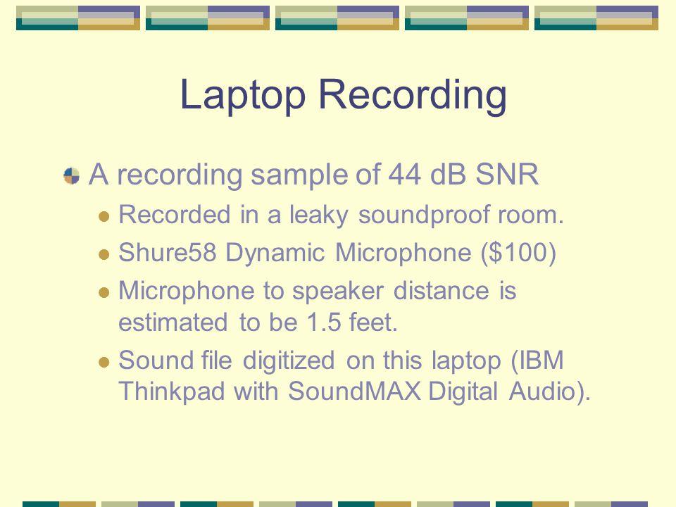 Spectrogram Classroom recording. SNR 29dB