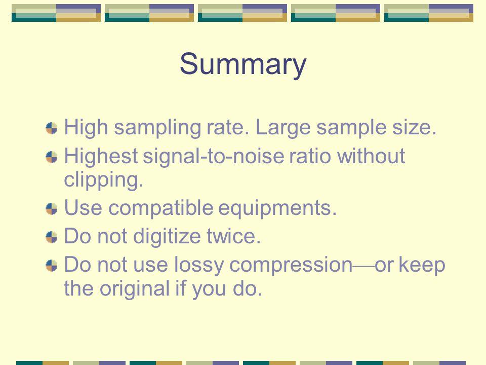 Professional Recording 90dB SNR -120 -24 -60
