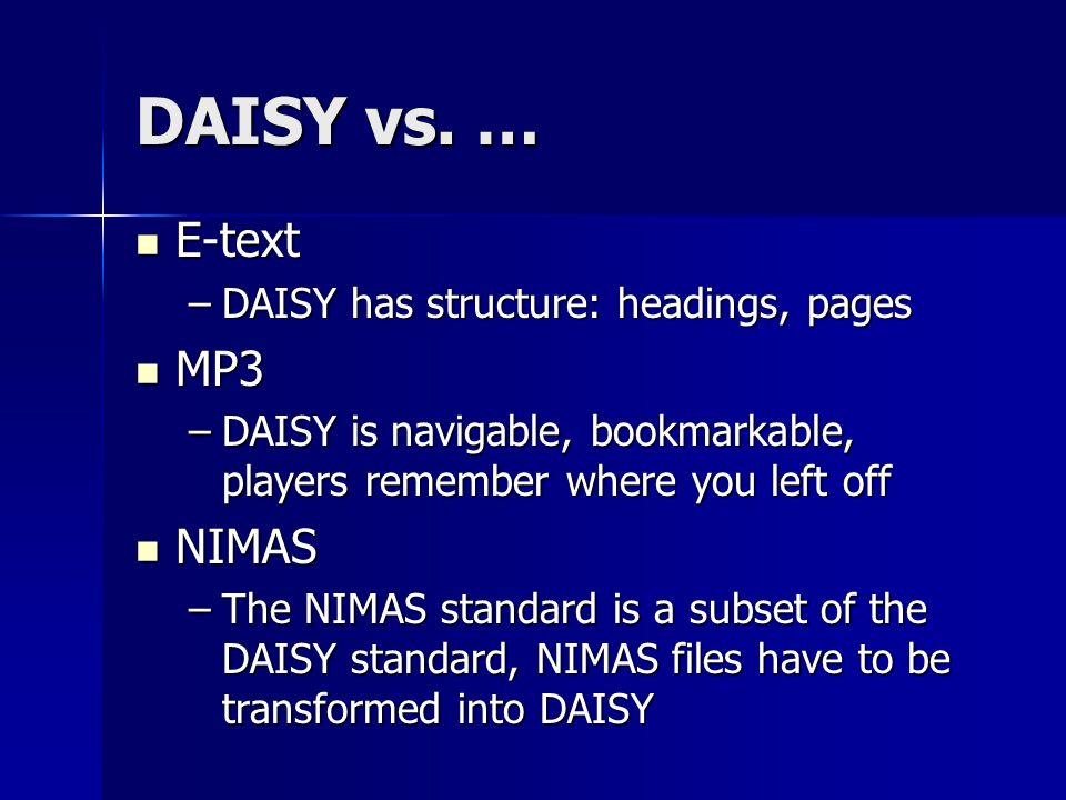 DAISY vs.