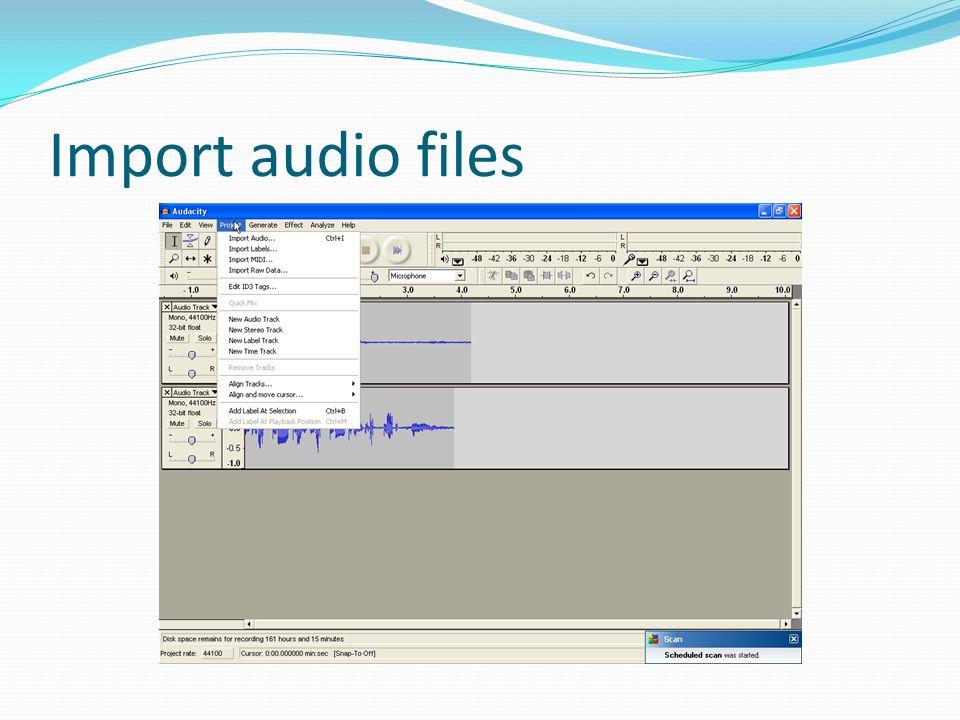 Import audio files