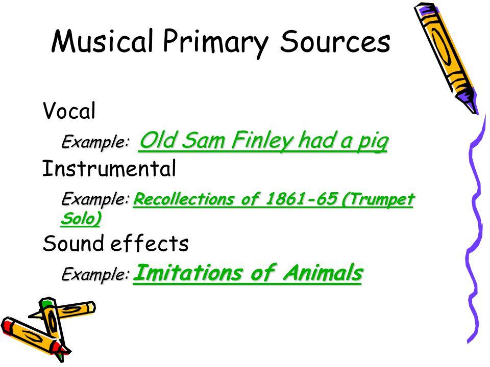 Nonmusical Primary Sources Speeches Example: Safeguard America.