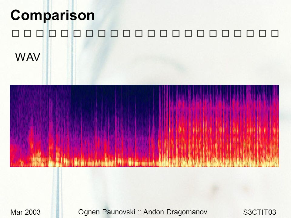 Mar 2003 Ognen Paunovski :: Andon Dragomanov S3CTIT03 Comparison WAV