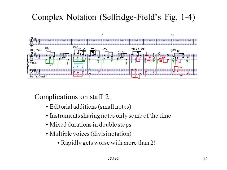 10 Feb. 12 Complex Notation (Selfridge-Field's Fig.