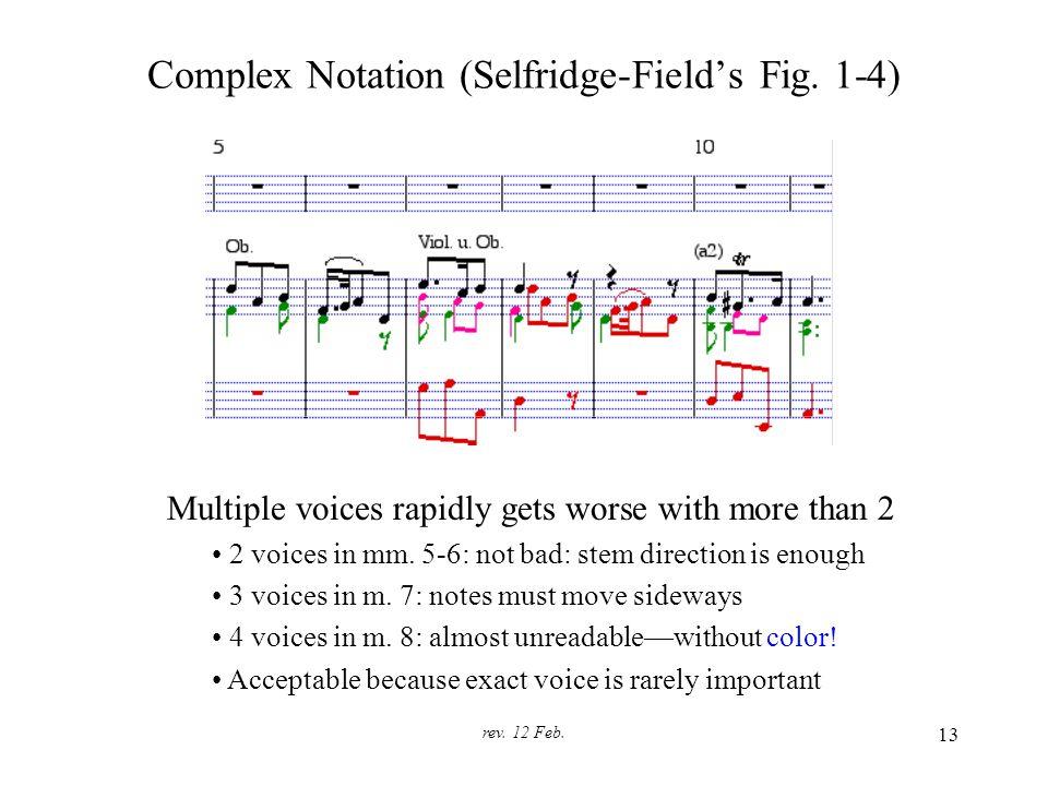 rev. 12 Feb. 13 Complex Notation (Selfridge-Field's Fig.
