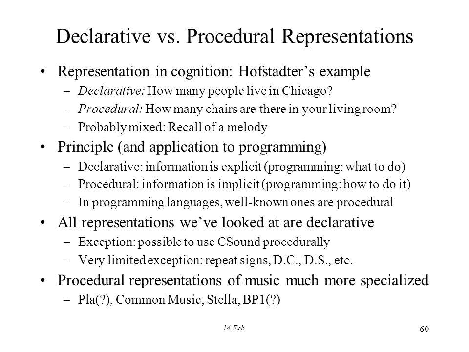 14 Feb. 60 Declarative vs.